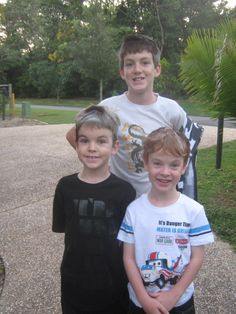 our three younger boys together - going for a walk!