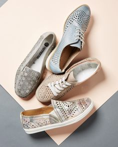 Perforated neutrals from @rieker_group @earthbrands and @ara_shoes . . . . . #shoes #instashoes #oxfords #laceup #loafers #perforated #trendy #trends #spring #summer #spring2017 #sotd #shopping #fashion #igersboston