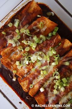 Easy Cheesy Chicken Enchilada Recipe.