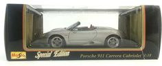 If he always wanted real one, give him a model at least! Maisto 1:18 Die Cast Silver #PORSCHE 911 #Carrera Cabriolet Special Edition 46629, new in box.  #Maisto
