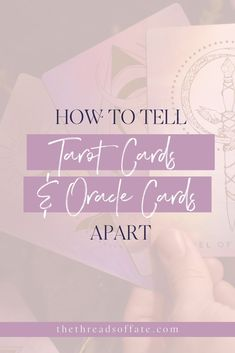 How to tell tarot cards and oracle cards apart. I'm sharing the difference for intuitive tarot reading and the cards. #tarot #cards Physic Reading, Tarot Cards For Beginners, Tarot Card Spreads, Tarot Learning, Tarot Card Meanings, Spiritual Connection, Learn Art, Major Arcana