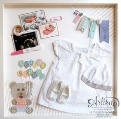 Stampin´ Up - Shadow Box - Baby Erinnerungsbild - erste Erinnerungen - Babyrahmen - 1