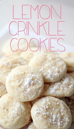 These Lemon Crinkle Cookies only take 9 minutes to bake! If you need an easy cookie recipe, make these lemon cookies today.