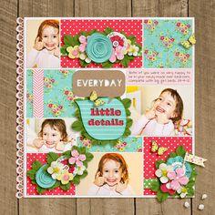 Strawberry Fields by Jenn Barrette  Cutouts: Everyday by Jenn Barrette  Creative Blocks by Shawna Clingerman  DJB font:Sandra Dee by Darcy Baldwin