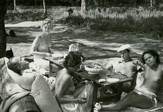 Roland Penrose __ Picnic at Mougins, 1937, with Lee Miller, Paul Éluard, Nusch Éluard, Man Ray and Ady Fidelin. Roland Penrose was the future husband of Lee Miller.