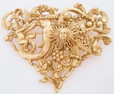 CHRISTIAN LACROIX Brooch Comedie Francaise Mermaid Cherub Sun Plumes  in Jewelry & Watches, Vintage & Antique Jewelry, Costume, Designer, Signed, Pins, Brooches | eBay Christian Lacroix, Cherub, Boujee Outfits, Mermaid Jewelry, Jewelry Design, Designer Jewelry, Tool Design, Baroque, Brooch Pin