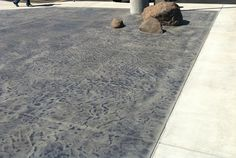 charcoal antique stained concrete
