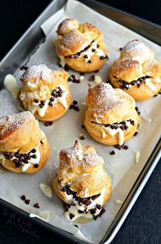 Cannoli Choux Pastry (Cream Puffs) 1 from willcookforsmiles.com