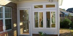 turning a porch into a sunroom (good use of windows)