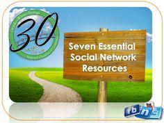 Seven Essential Social Networks presentation by Dawn Jensen of Virtual Options Coaching & Training via Slideshare @virtualoptions @Dawnrjensen