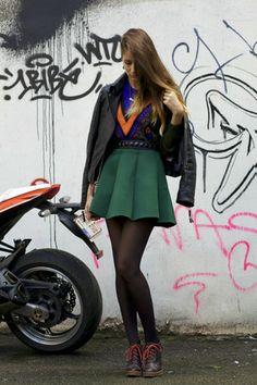 Choies skirt - Pretty Purple Boutique earrings - romwe jumper
