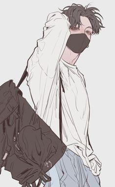 Top Ideas for funny art drawings sketches Anime Boys, Hot Anime Boy, Manga Boy, Cute Anime Guys, Jungkook Fanart, Fanart Bts, Korean Anime, Korean Art, Manga Japan