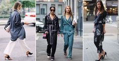 As we're in full hibernation mode, is it any surprise we're keen to find clothes that as closely resemble our PJs as possible? Luckily pyjama-style tops are having a moment, with the likes of Lily Aldridge and Erin Wasson donning them on and off duty. Seriously comfy and potentially chic, they can strike fear into the heart of even the most dedicated follower of fashion.