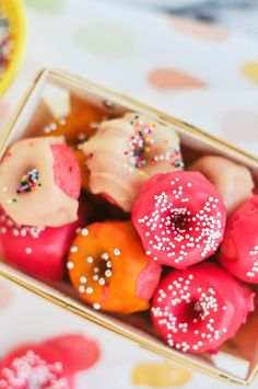 Pink Strawberry Mini Donuts