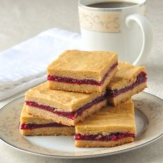 Raspberry Filled Cookie Bars