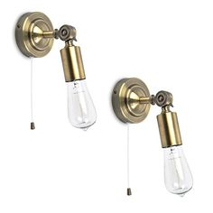 Urban single wall light in dark antique brass Interior Wall