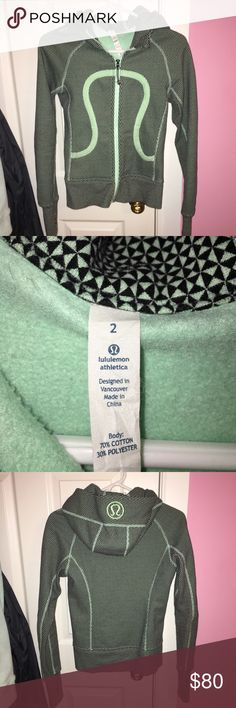 Shop Women's lululemon athletica Green Black size 2 Jackets & Coats at a discounted price at Poshmark. Lulu Lemon, Lululemon Athletica, Coats, Sweatshirts, Womens Fashion, Sweaters, Jackets, Closet, Things To Sell