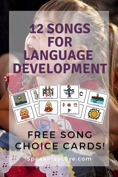 Looking for songs for language development? Perfect for speech therapy, circle t… Looking for songs for language development? Perfect for speech therapy, circle time songs, homeschool preschool, and special education classrooms! Preschool Speech Therapy, Preschool Music, Preschool Special Education, Speech Therapy Activities, Speech Language Pathology, Speech And Language, Articulation Activities, Preschool Language Activities, Play Therapy