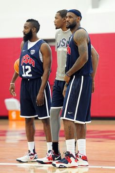 James Harden, Kevin Durant and Lebron James Durant Nba, Kevin Durant, Basketball Quotes, Basketball Drills, Nba Pictures, Tv Show Music, James Harden, Houston Rockets, Team Usa