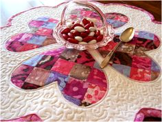 Quilted Valentine's Day Table Mat from Art Threads