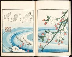 Heaven: Geese in Snow (1820-1831).Earth: Cherry Blossoms and...
