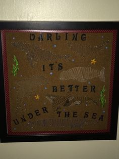 Marine mammal string art for myself :) and yes, those are lyrics to a song in The Little Mermaid ;)