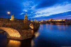 Blue hour by the Charles Bridge by Miroslav Petrasko on 500px