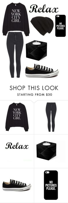 """""""Chilax"""" by sophia-marie-beauty on Polyvore featuring Topshop, Converse, Casetify, Phase 3, women's clothing, women, female, woman, misses and juniors"""