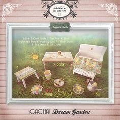 irrie's Dollhouse @ Lost & Found  Second Life Vintage Retro Original Mesh Dream Garden Gacha!