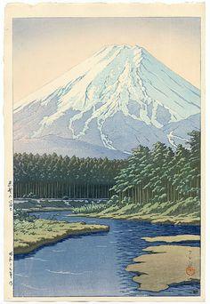 Kawase Hasui (1883-1957): Mt. Fuji, Oshino, 1942