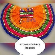 Excited to share this item from my shop: Vintage Ethnic Gujarati orange Embroidered chaniya choli 2019 Chaniya Choli Designer, Garba Chaniya Choli, Garba Dress, Navratri Dress, Choli Dress, Lehenga Gown, Party Wear Lehenga, Lehenga Choli Online, Party Wear Dresses