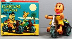 Flintstones WILMA Tricycle Trike Marx 1962 Wind Up A MIB