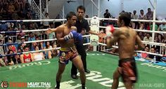 "head-kick combo: "" mma-gifs: "" Tiger Muay Thai"