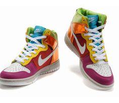 buy popular de355 bb4b4 Rainbow Nikes, Zumba Shoes, Nike High Tops, Nike Dunks, Nike Shoes Cheap