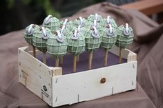 Grenade Cake Pops SUGAR JEWELS CAKES & CONFECTIONS
