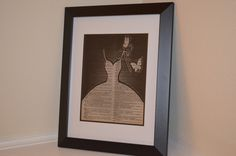 Wedding Dress; dictionary print; dictionary art by ChristinaMarieCrafts on Etsy https://www.etsy.com/listing/254011348/wedding-dress-dictionary-print