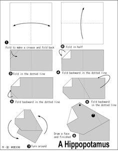 origami Hippopotamus