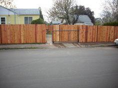 Sliding dog ear gate and fence | Deck Masters, llc - Portland, OR