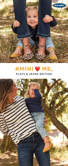It's never too early to learn the importance of a good pair of jeans and a flat! May we suggest a classic stripe or polka dot to go with?