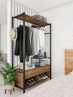 Welded Furniture, Dorm Furniture, Pipe Furniture, Furniture Projects, Furniture Design, Furniture Outlet, Bedroom Closet Design, Closet Designs, Home Bedroom