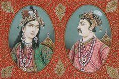 Mughal Miniature Paintings, Mughal Paintings, King Of India, Mughal Empire, Madhubani Painting, India Art, Blue Bloods, Magic Carpet, Bright Stars