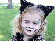 Easy Cat Face Paint. Cool Face Painting Ideas For Kids, which transform the faces of little ones without requiring professional quality painting skills. http://hative.com/cool-face-painting-ideas-for-kids/