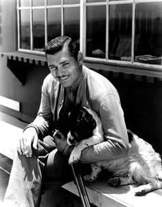 clark gable and springer spaniels | Clark Gable