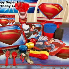 Superman Man of Steel Birthday Party Supplies Favors #Party #BirthdayChild - Frisbee