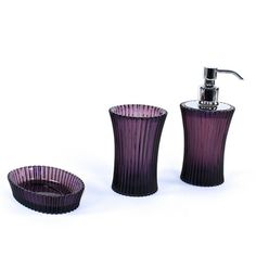 purple glass bathroom accessories. Hand Blown Art Glass Bath Accessories Set Of 4 By Route4glass  145 00 Bathroom Pinterest Accessories And