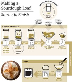 Making a starter requires time but very little effort. - Making a starter requires time but very little effort. And once it's established, it opens up a whole new universe of homemade breads with sourdough's trademark tang. Sourdough Bread Starter, Yeast Starter, Sourdough Recipes, Bread Recipes, Cooking Recipes, Sour Dough Starter, Bread Bun, Bread Rolls, Fermented Foods