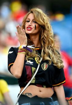 """Read Hottest Female Fans Spotted at the 2014 FIFA World Cup"""" and other Sports Lists articles from Total Pro Sports. Hot Football Fans, Football Tops, Football Girls, Soccer Fans, Female Football, Fifa, Manchester United, Real Madrid, Arena Corinthians"""