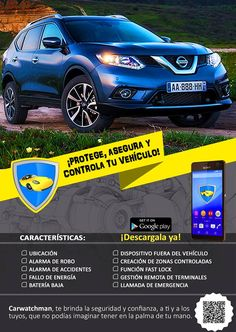 Diseño realizado para la aplicación de Carwatchman, para brindar seguridad para los vehículos.