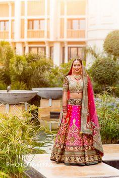 Real Indian Weddings - Tarisha and Dev | WedMeGood | Pink and Grey Wedding Lehenga with Polki Jewelry #wedmegood #indianbride #realindianwedding #grey #pink #bridal #lehenga