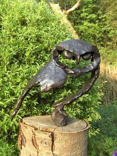 Walda Mees - Are you serious? Bird Sculpture, Animal Sculptures, Abstract Sculpture, Ceramic Owl, Ceramic Animals, Metal Art Projects, Dream Art, Owl Art, Art Plastique